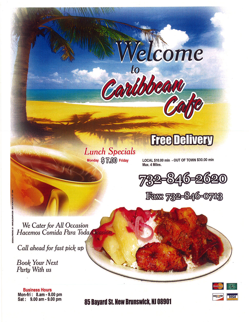 Caribbean Cafe New Brunswick Menu